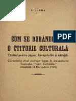 NICOLAE IORGA - Discurs Teatrul Pentru Popor (1935)