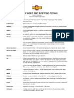 Brewing Terms