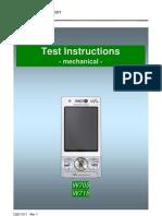 Sony Ericsson W705 W715 Test Instruction - Mechanical Rev1