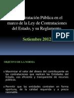 La Contratación Pública en el marco de la Ley de Contrataciones del Estado, y su Reglamento