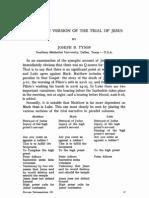 Lukan Version of the Trial of Jesus