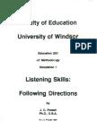 Listening Skills - Following Directions