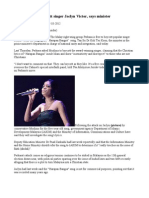 Perkasa Free to Boycott Singer Jaclyn Victor