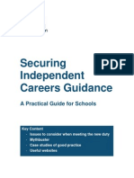 Securing Independent Careers Guidance a Practical Guide for Schools