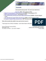 Mass Spectrometry - Links - Mass Spec Journals