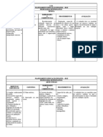Planejamento Anual Educação Infantil Jardim 2 Tabela