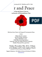 War and Peace Opera Concert