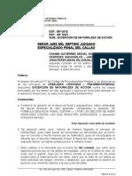 EXEPCIÓN DE NATURALEZA DE ACCIÓN