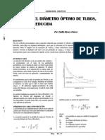 Calculo Del Diametro Optimo de Tubos, Ecuacion Reducida