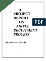 Recruitment Process in Airtel