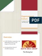 Organizational Culture in Aditya Birla