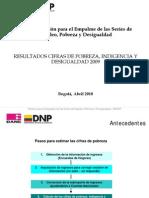 DANE Estudio MESEP 2009 - Pobreza e Indigencia Colombia 2009 - Presentacion PP