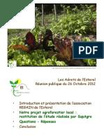 REGAIN de l Esterel Etude Agroforesterie 26octobre2012