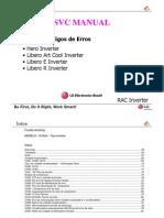 Guia código de erros condicionadores de ar LG