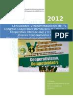 Conclusiones y Recomendaciones v Congreso Cooperativismo Dominicano