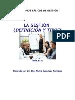LA GESTION Y TIPOS TEMA N° 01