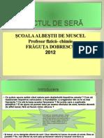 EFECTUL DE SERĂ. Dobrescu Fraguta