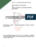 Plan de Reorganizare Eurocheese Productie_19 Iulie 2012