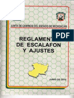 Reglamento de Escalafon 2012