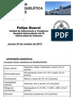 Exploracion Musculoesqueletica Paciente Hemofilico. Dr. Querol. INFOHEMO 2012. 251012
