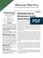 Spring 2004 Minnesota Plant Press ~ Minnesota Native Plant Society Newsletter