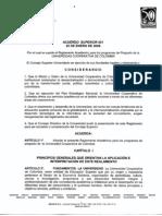 Reglamento Estudiantial I de 2009