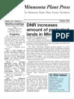 Winter 2011 Minnesota Plant Press ~ Minnesota Native Plant Society Newsletter
