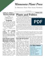 Summer 2011 Minnesota Plant Press ~ Minnesota Native Plant Society Newsletter