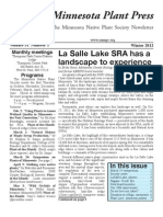Winter 2012 Minnesota Plant Press ~ Minnesota Native Plant Society Newsletter
