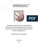 Prevalencia de Bronquiolitis en Lactantes Menores de 6 Meses de Edad, Sin Lactancia Materna Exclusiva