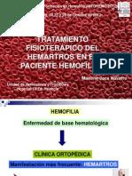 Tratamiento fisioterápico hemartros pac hemofilico . Doña Marlene Jaca. INFOHEMO  211012. 25.10.12