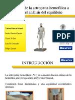 Valoración de la artropatía hemofílica a traves del analisis del equilibrio. INFOHEMO 2012. 25.10.12