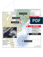 Hurricane Sandy's projected path