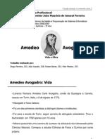 Biografia Amedeo Avogadro