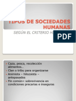 1.2.2 b. Tipos de Sociedades Humanas