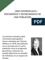 Ecuaciones Diferenciales Crecimiento y Decrecimiento Poblacional
