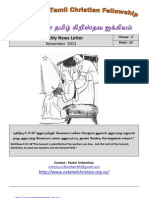 Wellington Tamil Christian Fellowship News Letter - November 2012