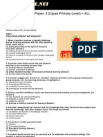 CTET 2012 Solved Paper II Upper Primary Level