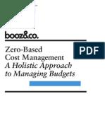 Zero Based Cost Management