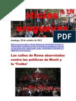 Noticias Uruguayas Domingo 28 de Octubre Del 2012