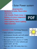 Primer of  Solar Electricity