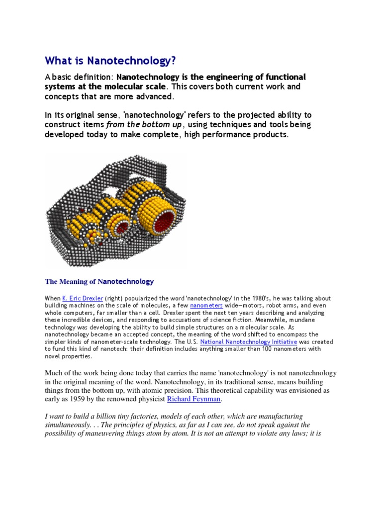 nano tech | Nanotechnology | Emerging Technologies