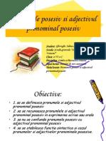 Pronumele Posesiv Si Adjectivul Pronominal Posesiv