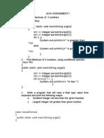 Java Practical Assignment2