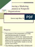Embracing a Marketing Orientation in Nonprofit Organizations 04-05-10