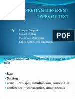 Interpreting Different Types of Text