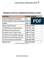 The Concerned Citizens of Roselle Park (Essential Contact Numbers 2012)