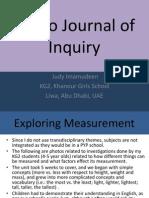 Judy's Photo Journal of Inquiry