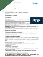 Bula Venvanse ao paciente  - Transtorno de Hiperatividade e Déficit de Atenção