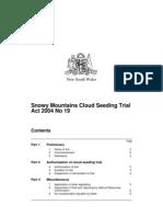 Snowy Mountains Cloud Seeding Trial 2004